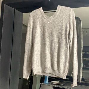 Grey and silver sweater with Bow Size S